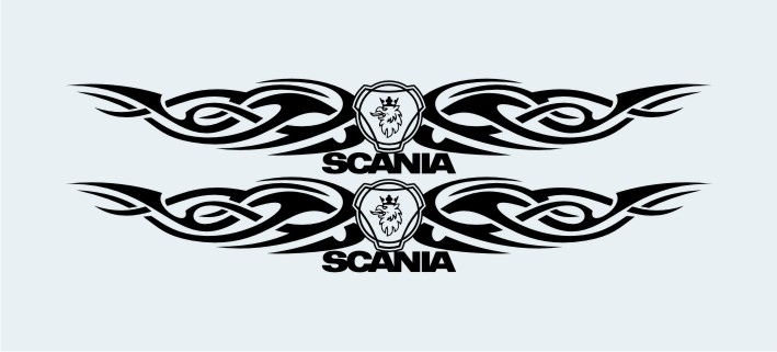 ADHESIVO VENTANA TRIBAL SUP.SCANIA